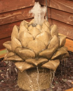 artichoke water feature